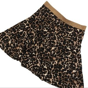Melissa Paige Leopard Animal Print Circle Skirt